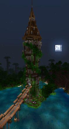 Minecraft Jungle House, Big Minecraft Houses, Minecraft Mansion, Minecraft Structures, Minecraft Cottage, Minecraft Houses Survival, Minecraft Buildings, Minecraft Room, Minecraft Medieval Tower