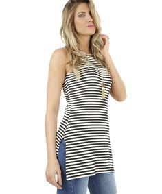 Regata Listrada Off White - cea Off White, Tank Tops, Womens Fashion, Stripes, Fashion Clothes, Men's, Ideas, Blouses, Dressmaking