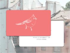 First personal business card with my favorite bird