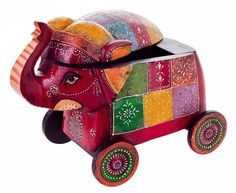 """""""Benara"""" #Ethno #Kiste #Elefant by Brigitte von Boch #bevonboch"""