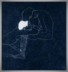 Egon Schiele, Les Amants (1), 1909