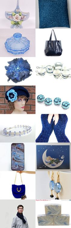 A gift or two in blue! by Susan Rodebush on Etsy--Pinned with TreasuryPin.com