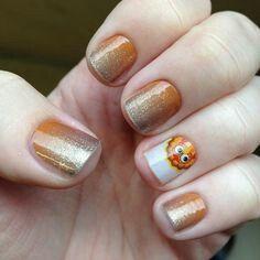 #PumpkinSpiceJN #GobbleGobbleGobbleJN Shop at https://jamminmomma79.jamberry.com/ #pumpkinspice #gobble #manicure #naildesign #nails #diy