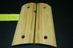 1911 Grips BAMBOO Wood Unfinished Gun Mag Blanks FULL SIZE 45 mag 7-8rd Magwell #206GRIPS