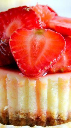 Mini Strawberry Grapefruit Cheesecakes