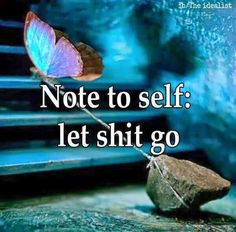 Just a reminder . Note to self: let shit go. The Five Stages of Pissed-Off: or How to be Fabulously Fired and Live to Tell About It ~ life in the circus Good Quotes, Quotes To Live By, Me Quotes, Motivational Quotes, Inspirational Quotes, Quotable Quotes, Wisdom Quotes, Fish Quotes, Poster Quotes