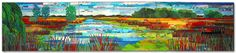 Sue Benner: Artist (quilts) - Landscape Gallery - Wisconsin Wetlands I: Poygan Marsh. Commission, Northwestern Mutual Life, Milwaukee, WI