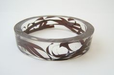 Cassette Tape and Resin Bangle Bracelet (Etsy)