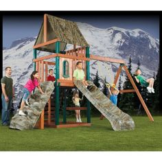 Swing-N-Slide Sportsman Wood Swing Set