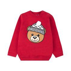 6838490d6704 MOSCHINO Baby Boys Teddy Bobble Hat Sweatshirt - Red Baby boys sweatshirt •  Soft stretchy cotton
