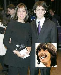 ♥♥Olivia Arias-Harrison♥♥ ♥♥Dhani Harrison♥♥ ♥♥♥♥George H. The Beatles Help, Beatles Love, Olivia Harrison, George Harrison, Love Is All, I Fall In Love, Travelling Wilburys, Is 11, Yahoo Images