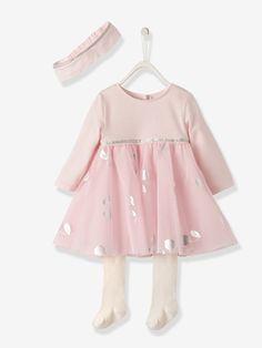 Ensemble bébé fille 3 pièces - Rosé pâle - 1