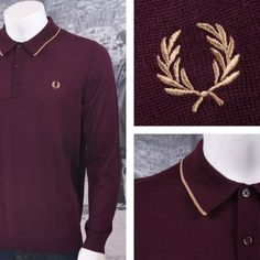 9f025390 Fred Perry Mod 60's Laurel Wreath Single Tipped Merino Wool Polo Shirt