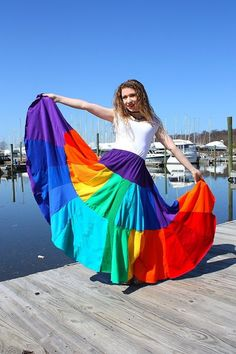 awesome huge rainbow skirt
