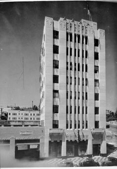 """Mountain States Life Building, on Hollywood Boulevard, near Vine, which will have its formal public opening next Thursday."""" -- Examiner clipping attached to verso, dated 27 July 1929 (http://digitallibrary.usc.edu/cdm/singleitem/collection/p15799coll44/id/91130/rec/40)"""