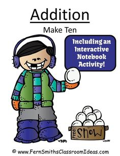 Fern's Freebie Friday ~ FREE Winter Kids Addition Center and Interactive Notebook Activity! #FREE #Freebie