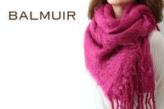 BALMUIR(バルミュール) キッドモヘア ストール 「Kid Mohair scarf(W35)」(carmine rose)