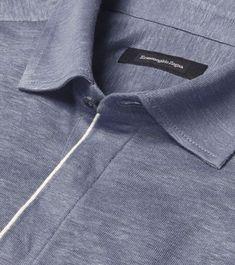 Discover the latest Ermenegildo Zegna menswear collection. Polo Collar Shirts, Mens Polo T Shirts, Polo Rugby Shirt, Men's Polo, Tartan Men, One Direction Shirts, Polo Shirt Design, Matching Couple Shirts, Lacoste Men