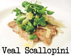Veal Scallopini with watercress salad and parmesan shavings