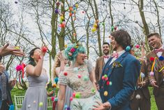 We hope your is as colorful and full of love as this pom-pom send off! 🌈 Catch up on all things wedding etiquette and inspiration on the via link in bio! Wedding Vows, Chic Wedding, Wedding Couples, Dream Wedding, Wedding Day, Wedding Rustic, Rainbow Wedding, Wedding Confetti, Wedding Pom Poms