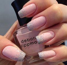 Pink glitter tipped nails cute nails pink glitter nail pretty nails nail art diy nails nail ideas nail designs