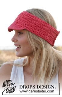 "Crochet DROPS sunshade with star pattern in ""Paris"". Size S/M – L/XL. ~ DROPS Design"