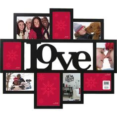 "Collage Picture Frames | Wagner ""Love"" 9 Opening Collage Frame, Black: Decor : Walmart.com"