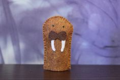 Walrus Felt Finger Puppet by LittleLutessa on Etsy  this would be great with the penguin!