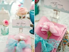 23 de fevereiro de 2012  Olá,   O que acha de fazer a decoração do casamento em azul e rosa? Não é a primeira vez que trago ideias nesse est...