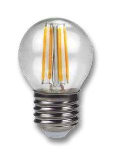 LMP LAMPADA FILAMENTO SFERA E27 4 WATT 400 LUMEN 3000 °K BIANCO CALDO COME ALOGENE IN ZAFFIRO immagini