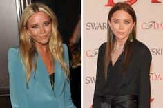 Blonde vs brunette: celebrity hair transformations: Mary-Kate Olsen sets herself apart from twin Ashley with a warm brunette shade that makes her green eyes pop.