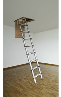 Youngman Telescopic Loft Ladder 2 6m In 2020 Loft Ladder Loft Hatch And Ladder Telescopic Ladder