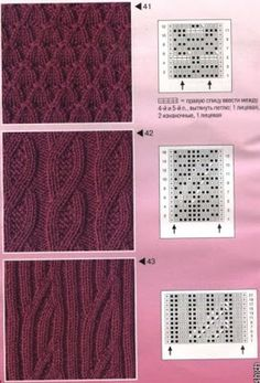 Untere schönes Jackenmuster in Mystic Silk beere . Rand in Zopfmuster rechts links The Effective Pictures We Offer You About knitting techniques lace A quality picture can tell you many things. Cable Knitting Patterns, Knitting Stiches, Knitting Charts, Lace Knitting, Knitting Designs, Crochet Stitches, Lace Patterns, Stitch Patterns, Crochet Patterns