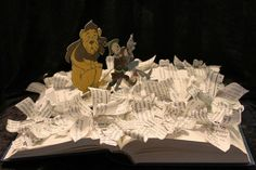The Wizard of Oz Book Sculpture
