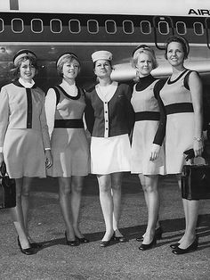 Last Minute Cheap Airline Ticket Air Hostess Uniform, Australian Airlines, Airline Uniforms, Airline Travel, Air Travel, Air New Zealand, Intelligent Women, 60s And 70s Fashion, Vintage Travel Posters