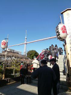 "Capodanno, ""Kameido Tenjin"" (Sacrario), Kameido Tokyo Japan (Gennaio)"