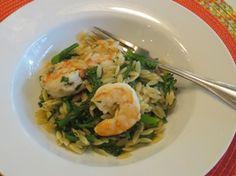 Orzo Risotto with Shrimp and Broccolini