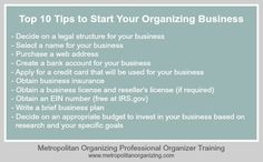 Geralin Thomas shares her Top 10 Tips Become a Professional Organizer and Start a Professional Organizing Business