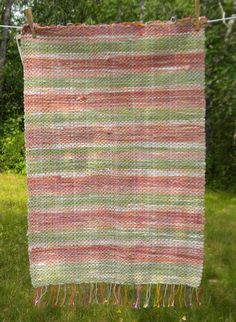 Recycled Cotton Rag Rug by DAYeWeaver on Etsy, $40.00