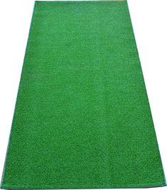Time Concept Lifelike Faux Grass Indoor//Outdoor Door Mat Half Round