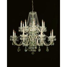 View the Crystorama Lighting Group 1139-CL-SAQ Traditional Crystal 16 Light Chandelier at LightingDirect.com.