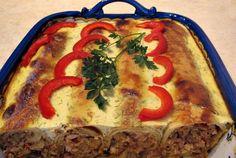 Retete Culinare - Clatite la cuptor cu carne si ciuperci
