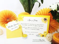 Invitación Sunflowers