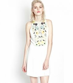 @Who What Wear - French Connection Summer Lilli Embellished Dress ($248)  Add a cropped black blazer, and this embellished dress will be ready for the office.