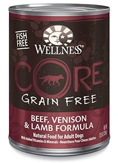 Wellness CORE Grain Free Beef, Venison and Lamb Natural Wet Canned Dog Food, 12.5-Ounce Can (Pack of 12) *** Read more reviews of the product by visiting the link on the image.