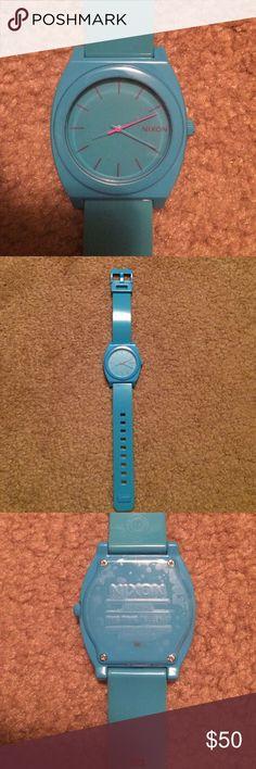 Nixon blue watch Nixon blue watch. Needs a new battery. No scratches or scuffs. Nixon Jewelry