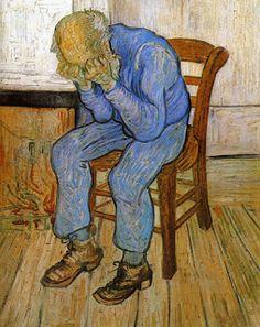 Margini in/versi: novembre 2015  Vincent van Gogh, Vecchio seduto, (1890) olio su tela, Otterlo, Kroller-Muller Museum
