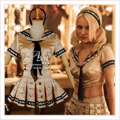 Cosplay sucker punch Baby doll Costume Custom-made G754 ❤ liked on Polyvore