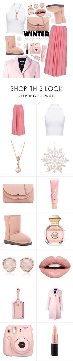 """Pink Snow"" by acagongora ❤ liked on Polyvore featuring WearAll, LE VIAN, Lano, UGG, Tory Burch, Monica Vinader, Nevermind, FOSSIL, MSGM and Fujifilm"