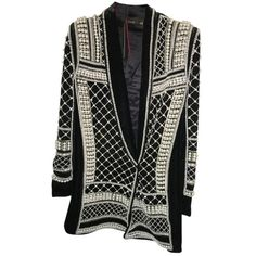 Pre-owned Balmain X H&m Black Velvet Blazer ($1,835) ❤ liked on Polyvore featuring outerwear, jackets, blazers, blazer, black velvet, velvet jacket, metallic jacket, balmain, balmain jacket and metallic blazer